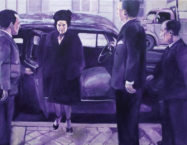 Eine arrivierte Frau. 2013. Öl auf Leinwand. 125x95cm